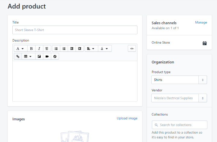 add product interface