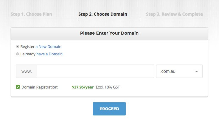 Choosing a domain name with SiteGround