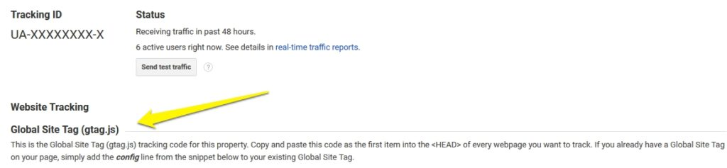 find out type of google tracking code