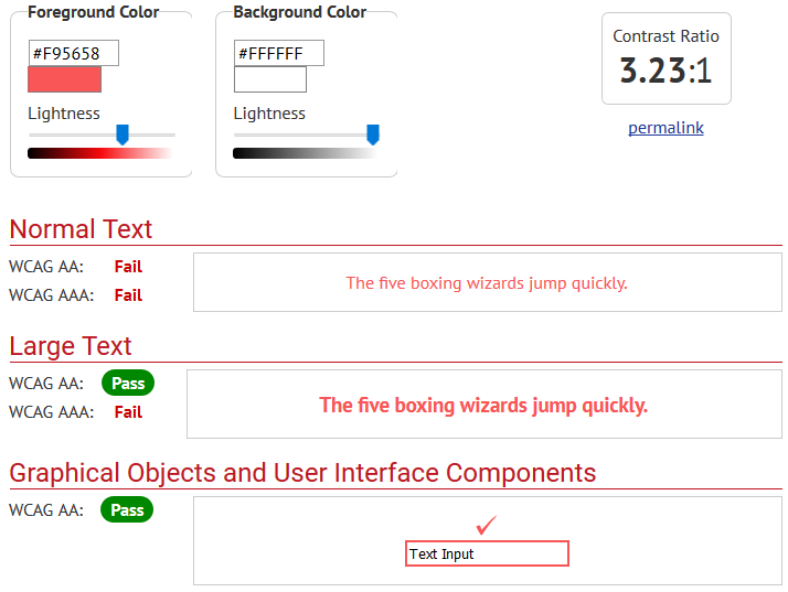 contrast checker tool for readability