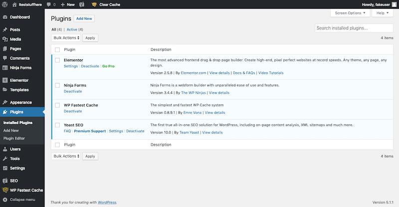 WordPress Plugin List