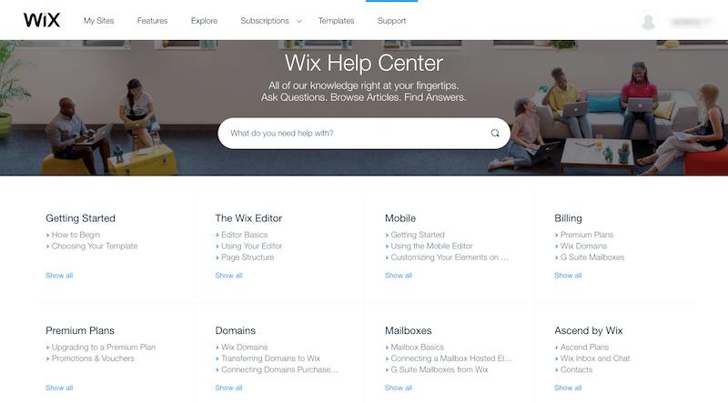 Wix Knowledgebase
