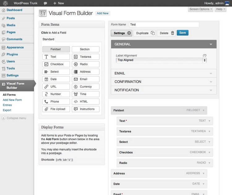visual form builder 2