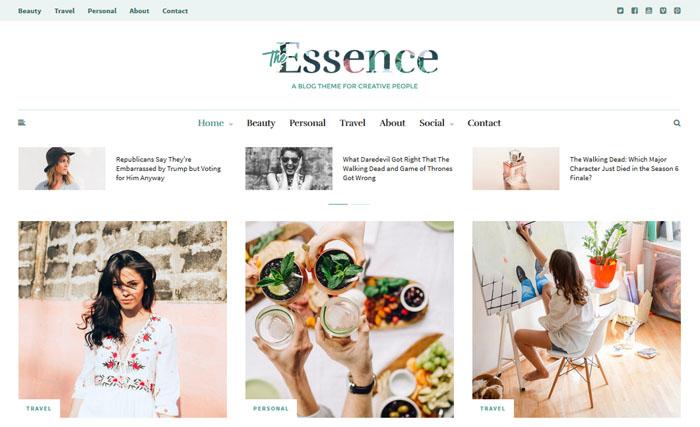 Essence WordPress themes for writers