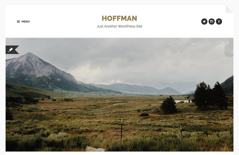 Hoffman WordPress themes for writers