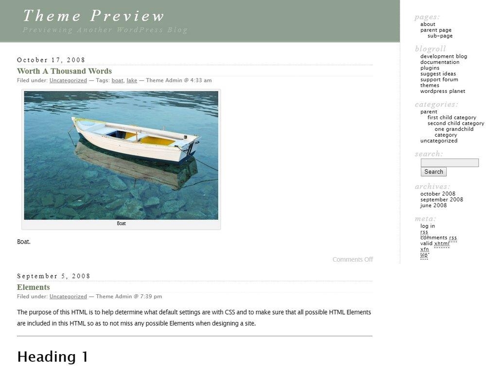 Wordpress-classic-theme