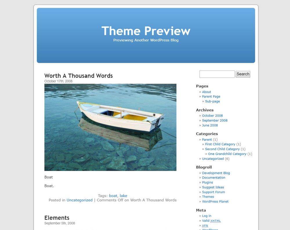 Wordpress-default-theme