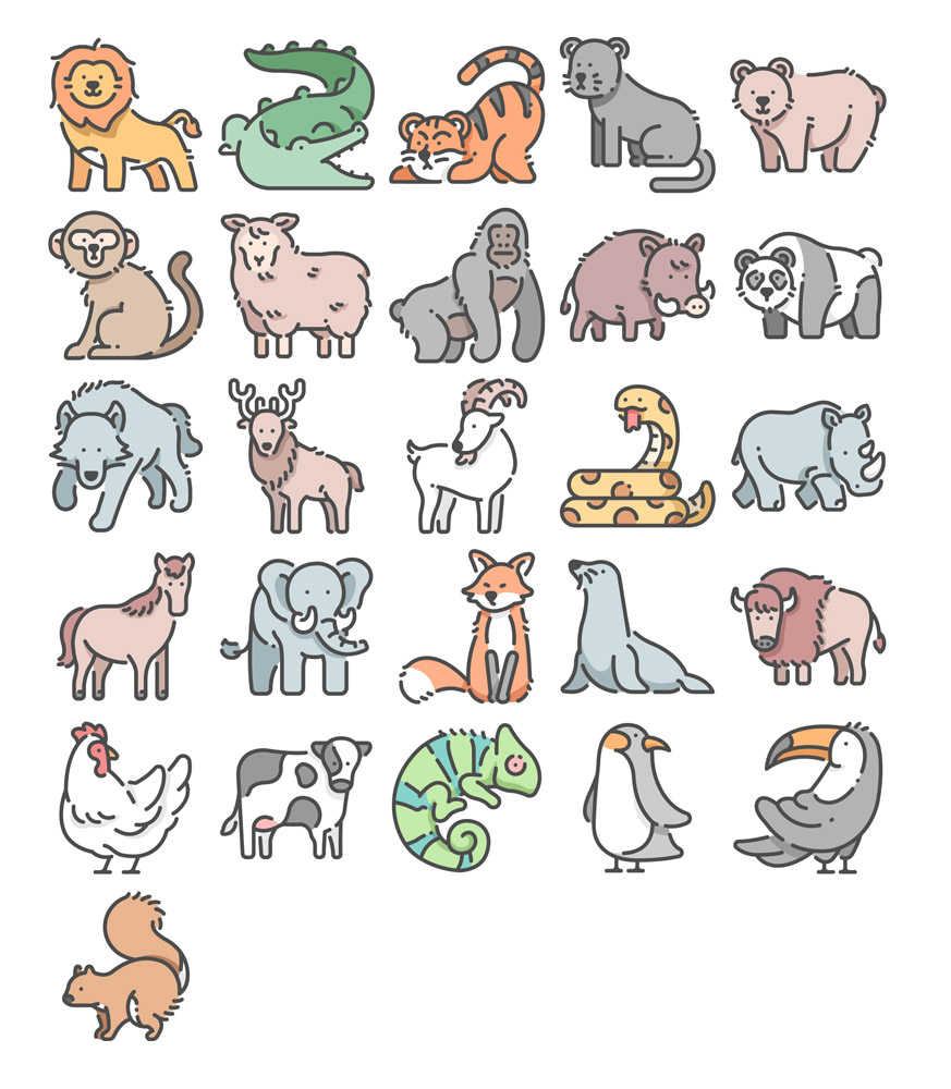 free wildlife icon set