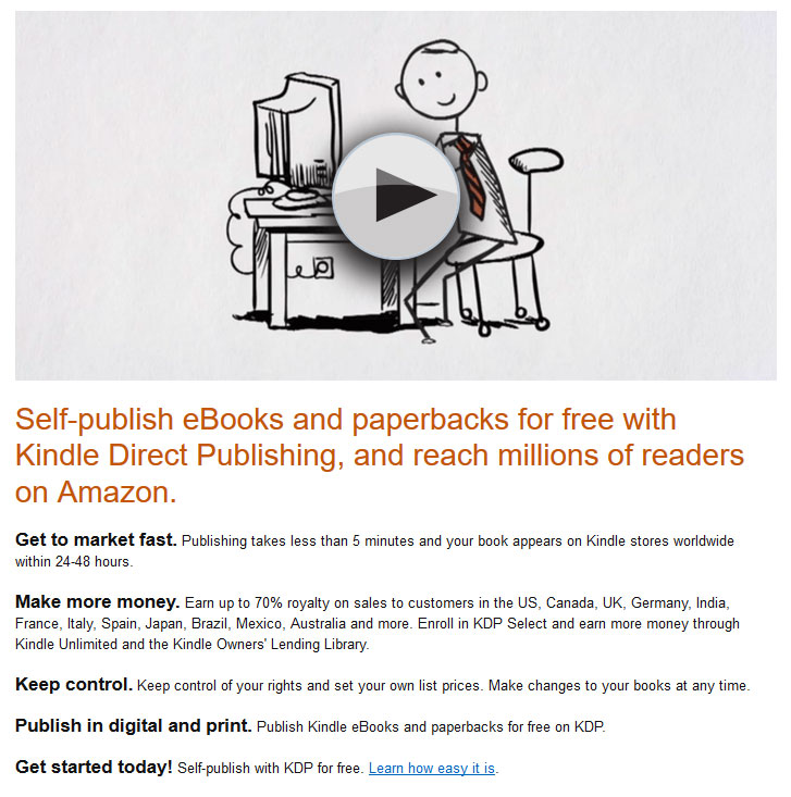 kindle direct publishing for self publishing ebooks