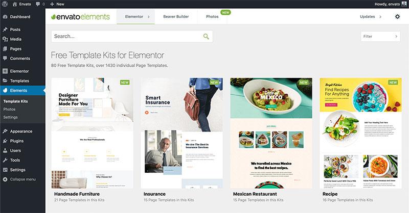 Envato Elements WordPress Templates