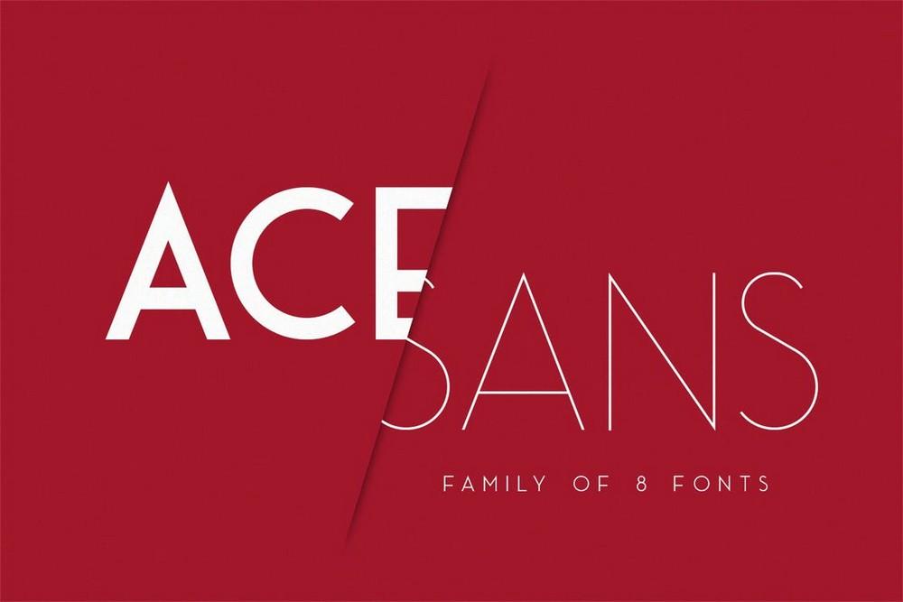 Ace Sans - Sans-Serif Font Family