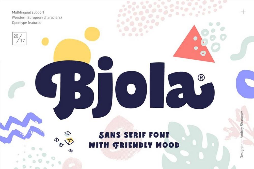 Bjola - Creative Sans Serif Font