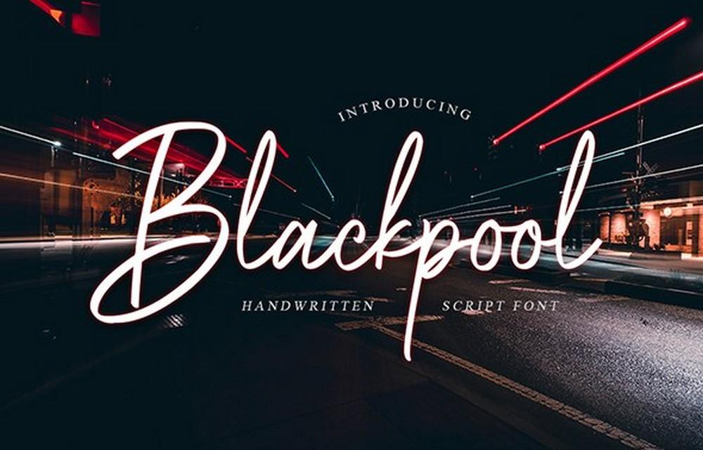 Blackpool - Handwritten Script Font