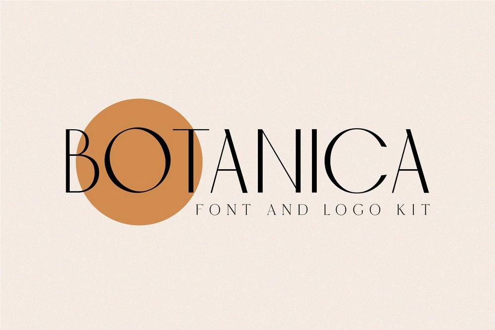 Botanica - Modern Font & Logo Kit