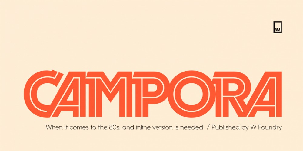 Campora - Modern Logo & Title Font