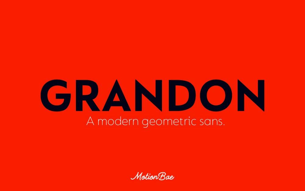 Grandon - Geometric Sans Font