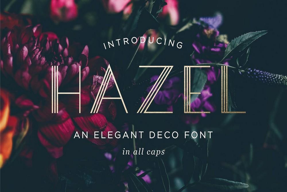 Hazel - Elegant Art-Deco Font
