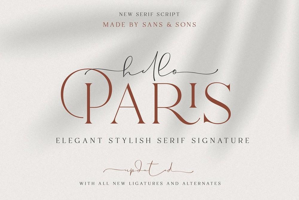 Hello Paris - Modern Font Pair