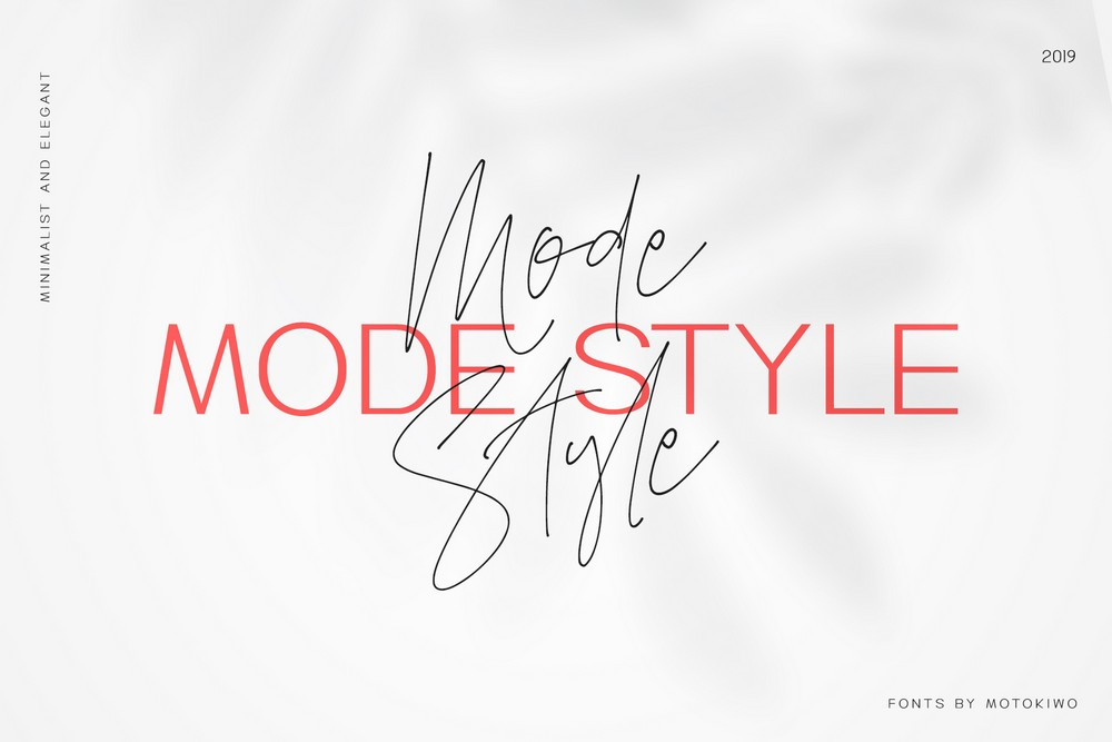 Mode Style - Modern Font Duo