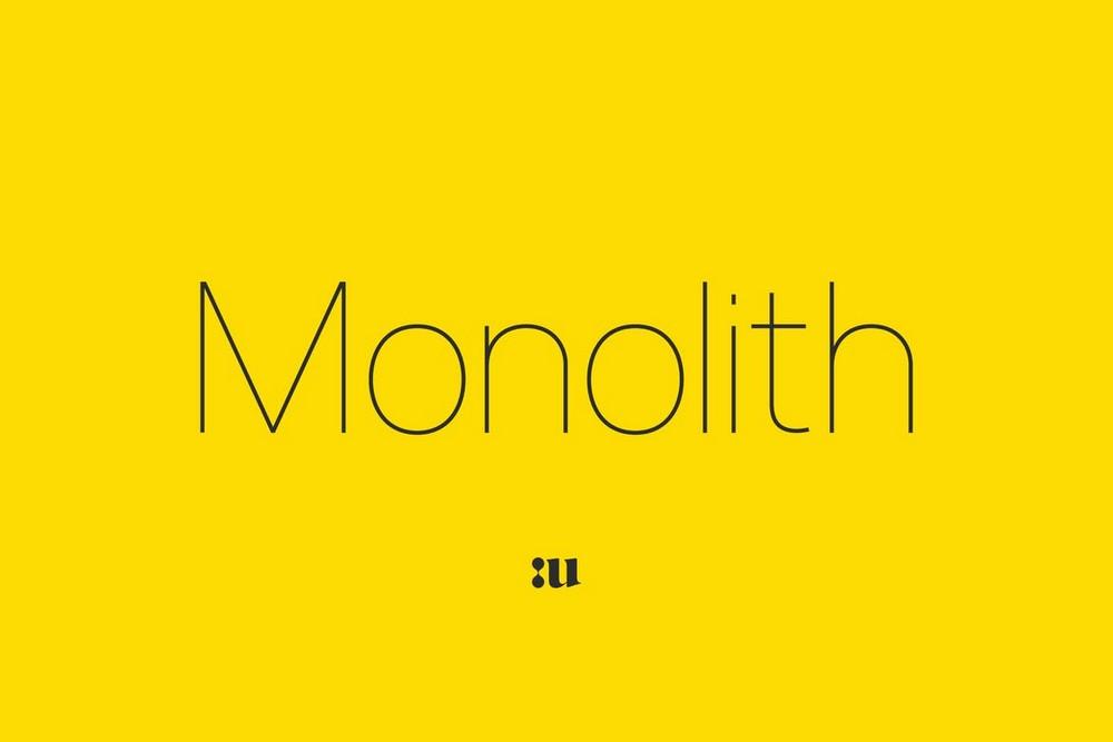 Monolith - Thin Sans Font Family