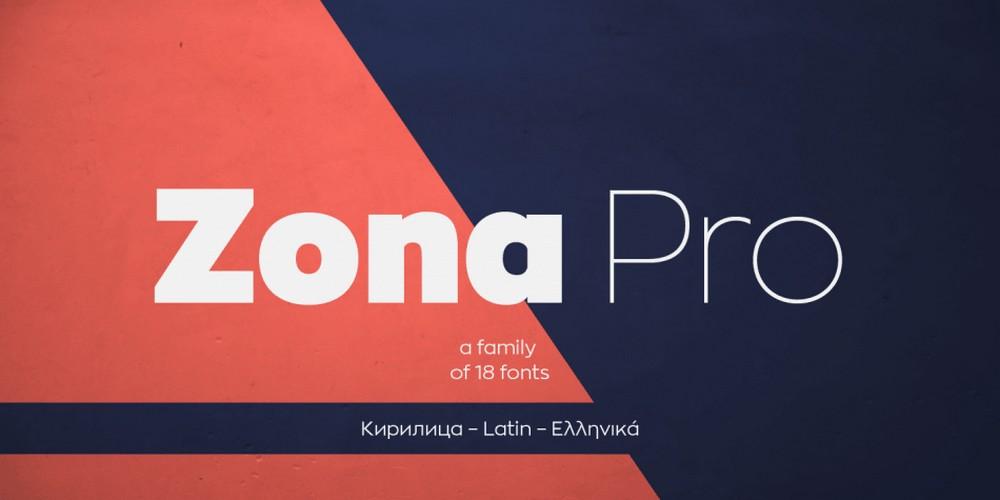 Zona Pro - Modern Sans Font Family