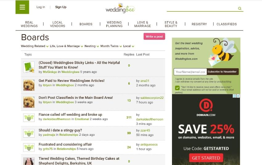 WordPress forum weddingbee