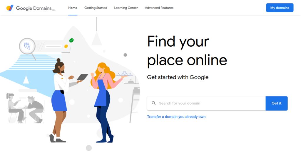 google domains homepage