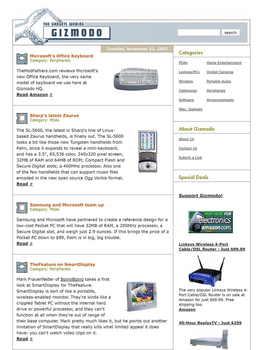 Gizmodo Tech Blog