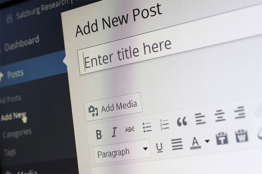 Adding a Post in WordPress