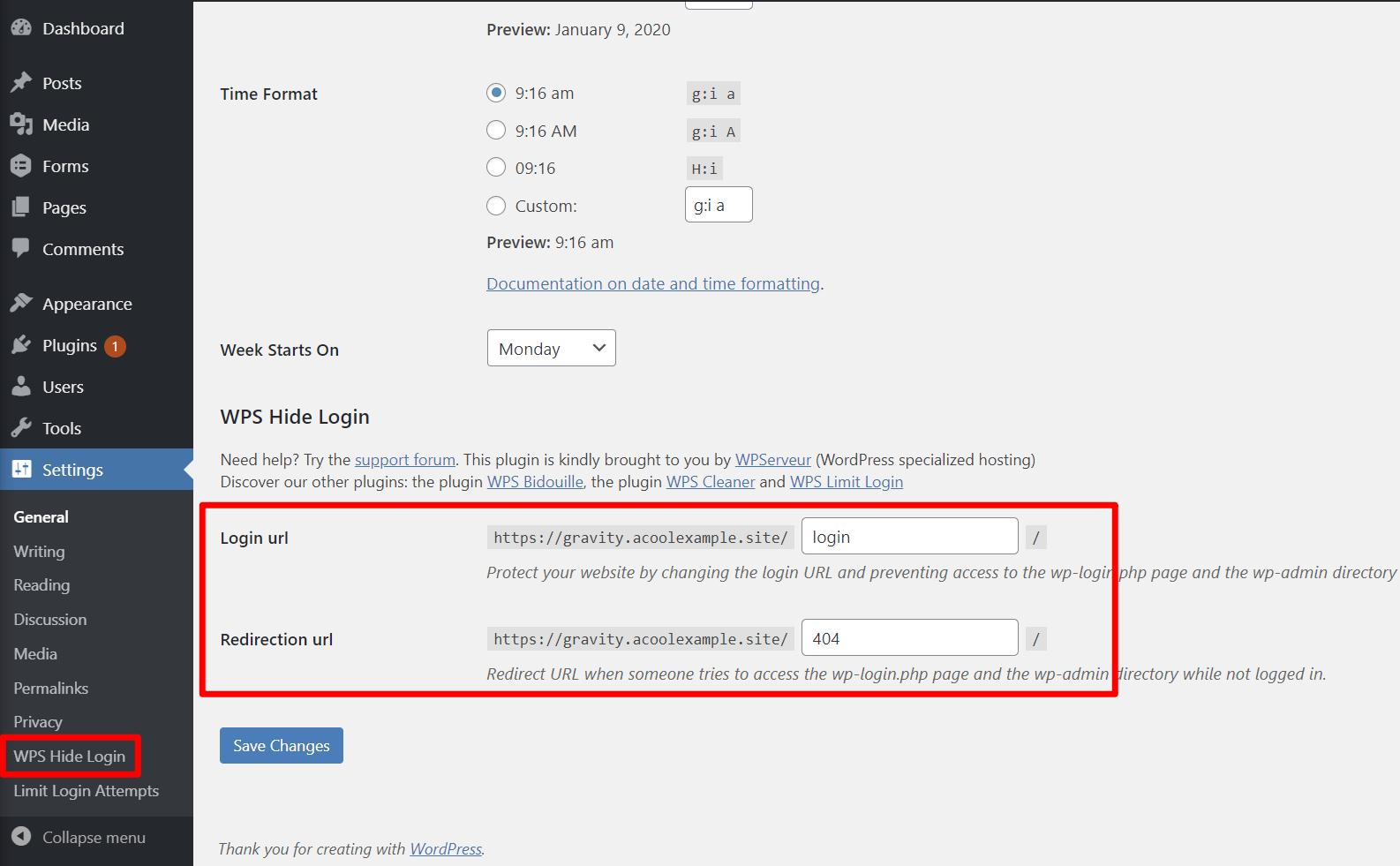 How to change the WordPress login URL