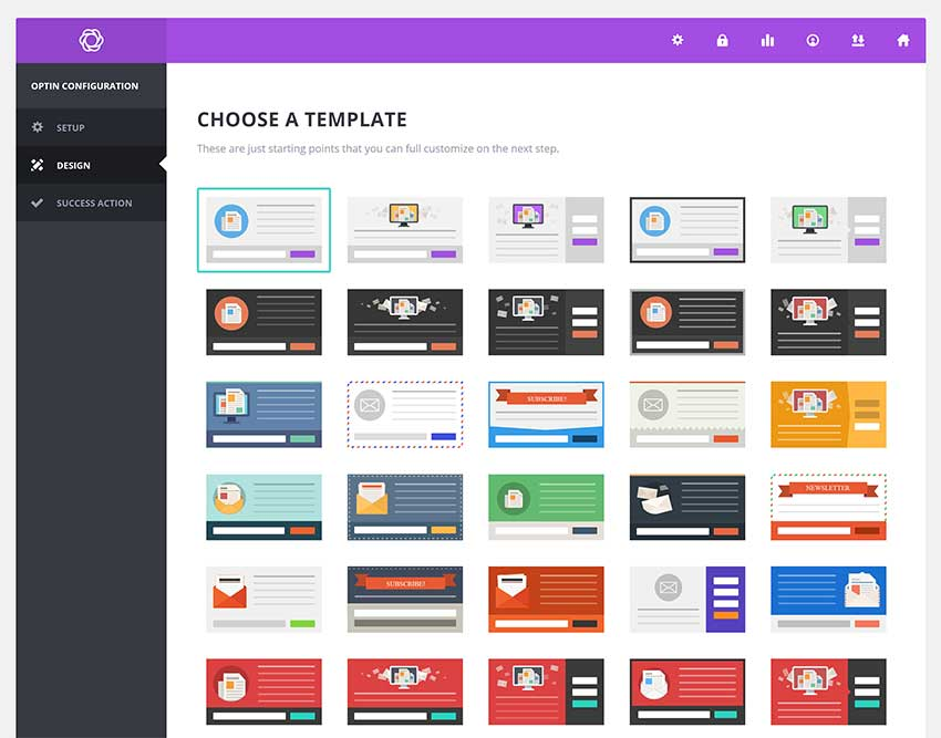 Choose Email Template
