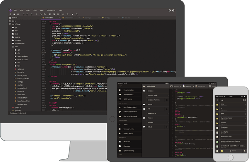 Codeanywhere Text Editor
