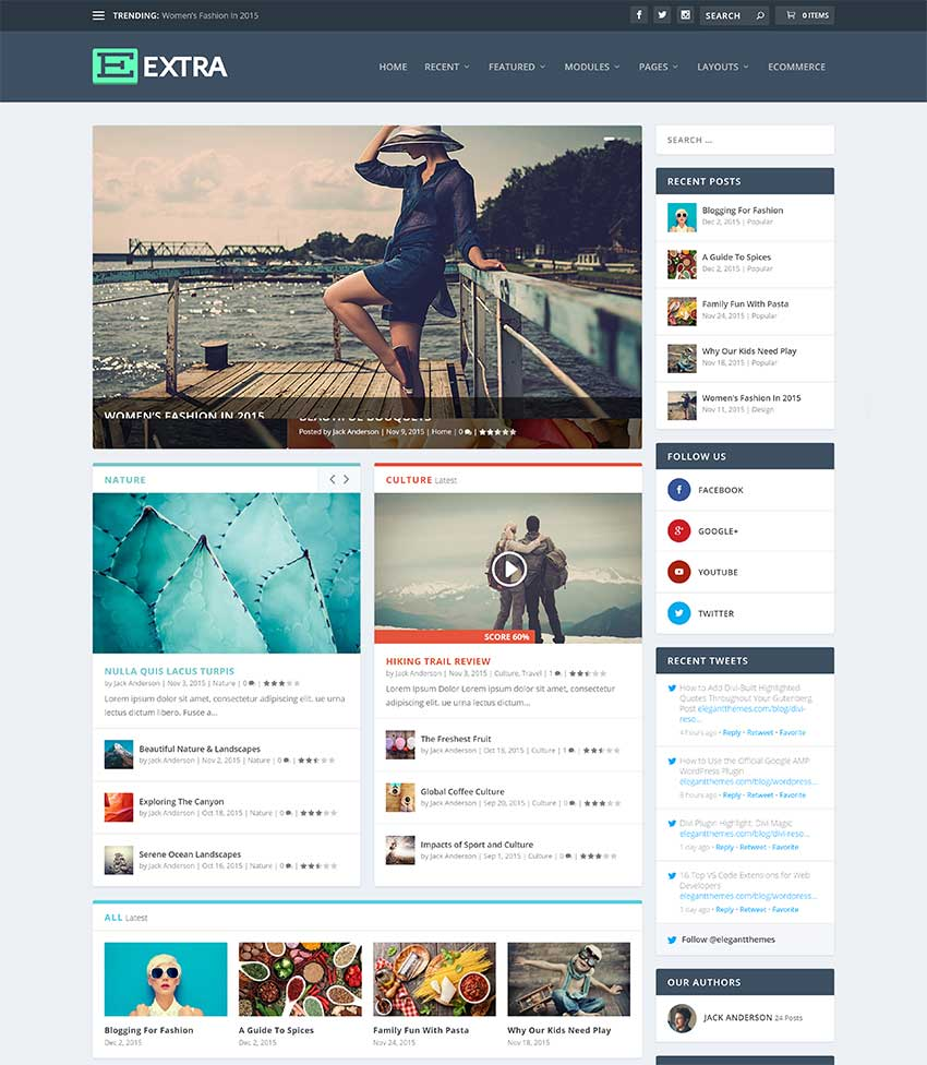 Extra Magazine WordPress Theme
