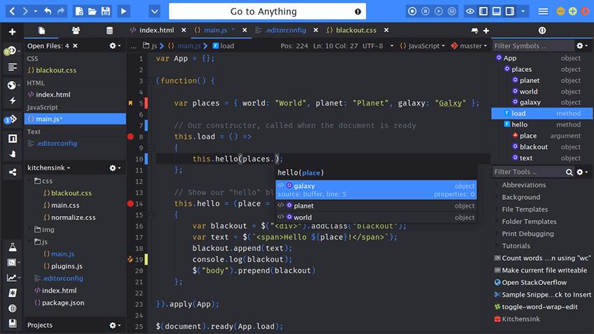 Komodo IDE Text Editor