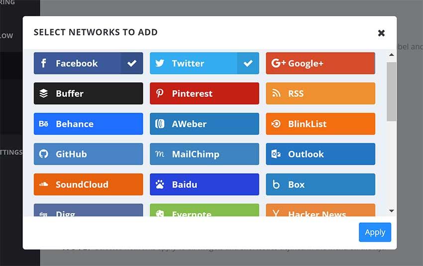 Select Social Media Networks