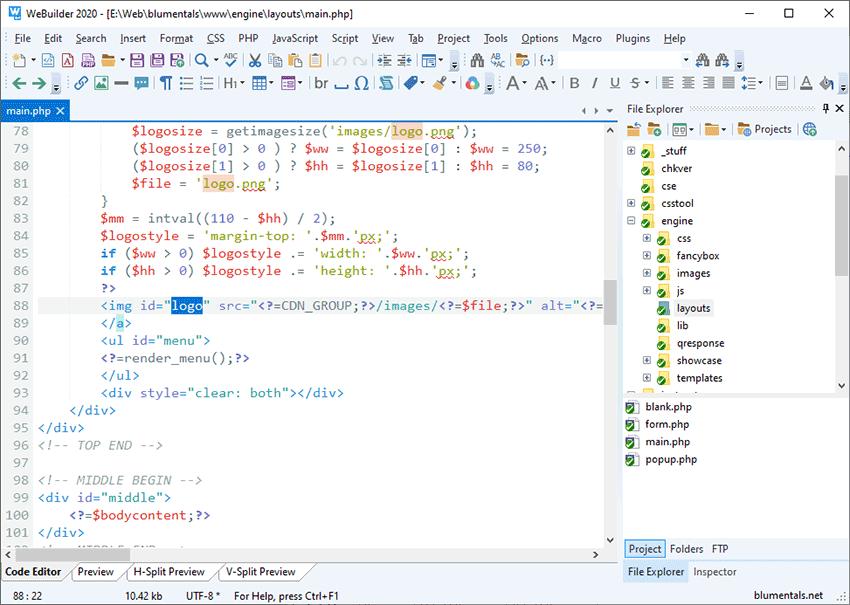 WeBuilder Text Editor