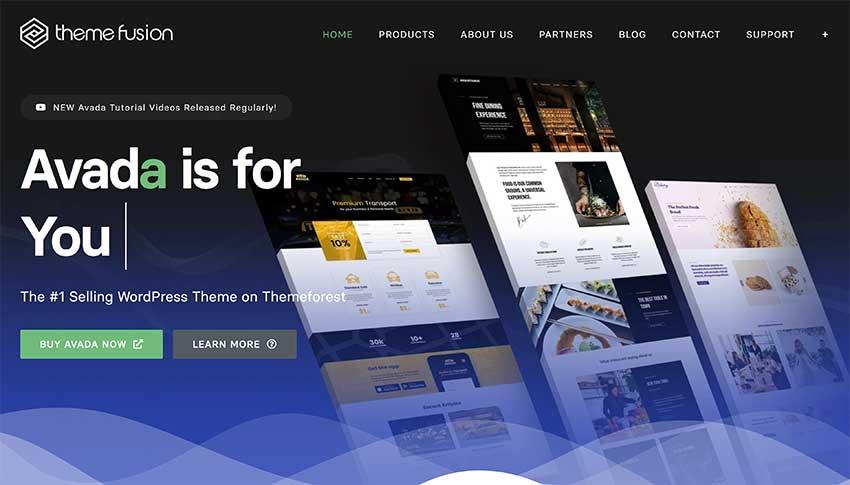 Theme Fusion Home Page