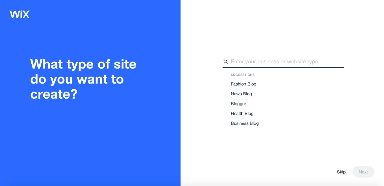Wix ADI type of site