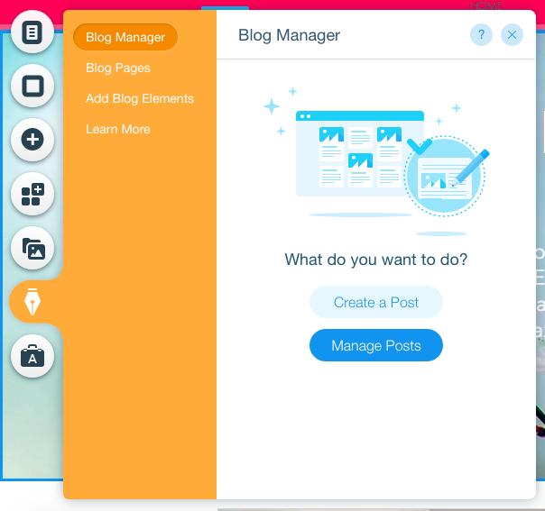 Wix blog manager