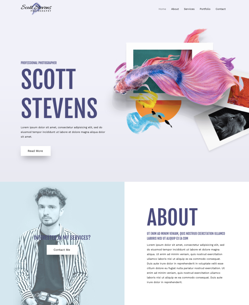 Astra photography theme