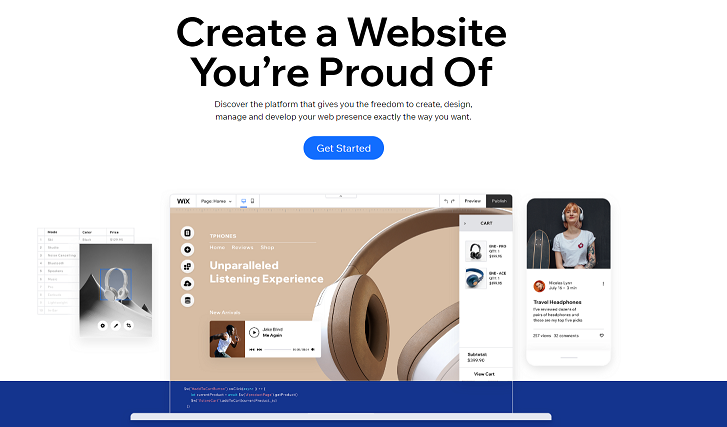 Wix: The best Squarespace alternative for designers
