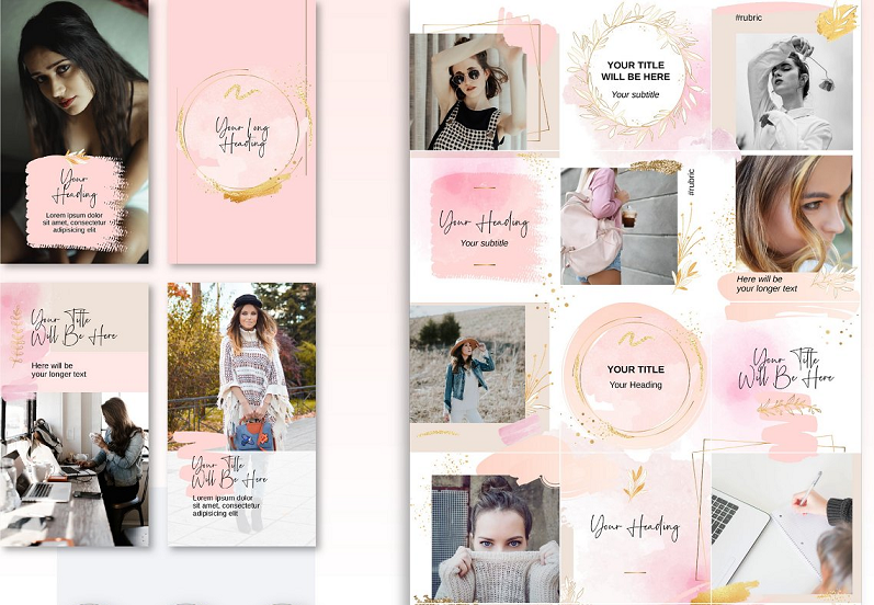 Pink Puzzle Instagram template
