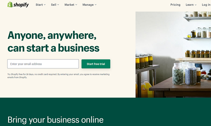 Shopify: best alternative to Squarespace for eCommerce stores