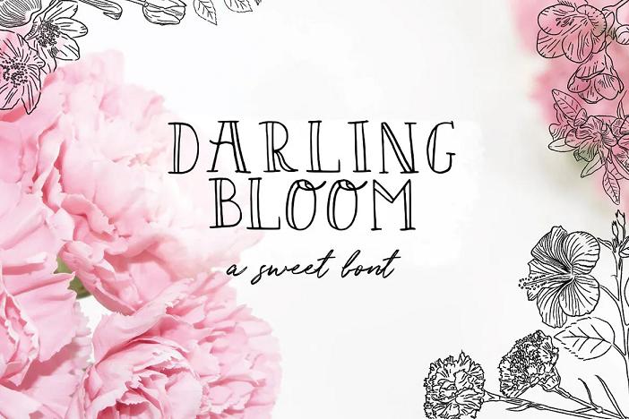 Darling bloom font
