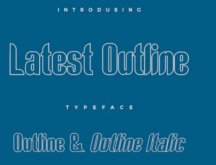 Latest outline font