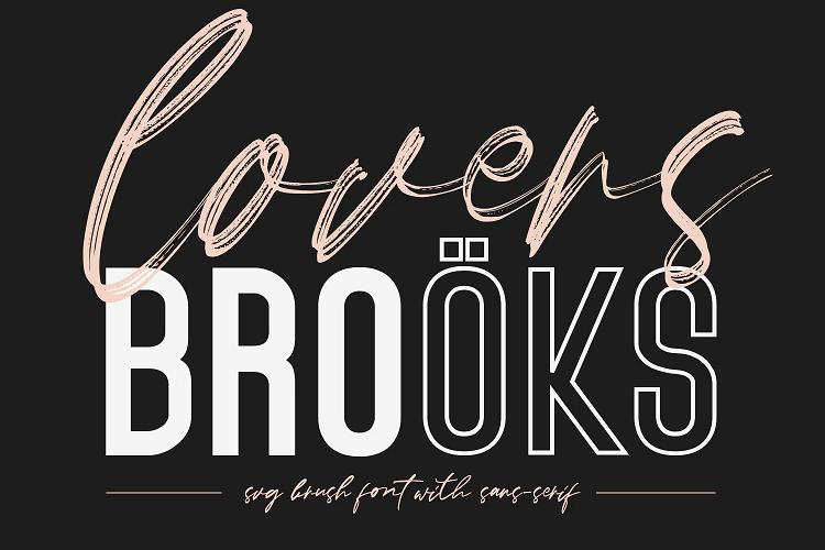 Lovers Brooks font
