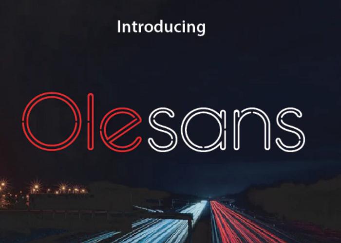 Olesans outline font