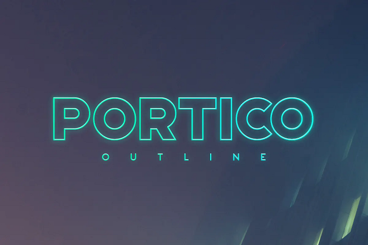 portico outline font