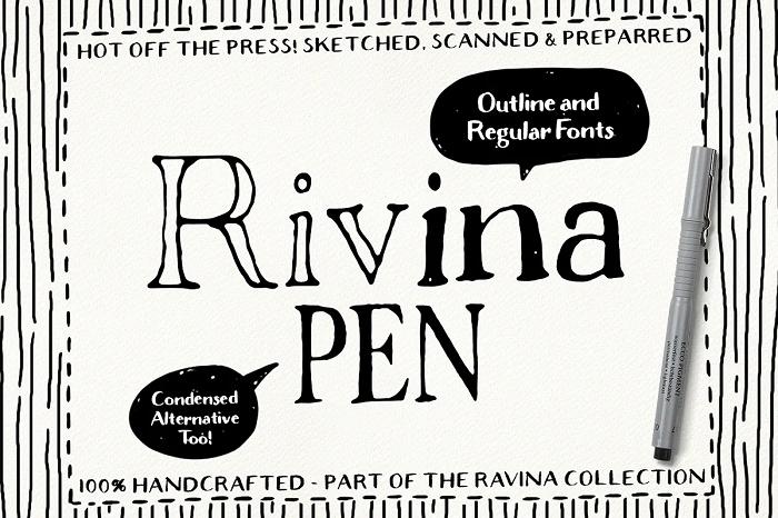 Rivina pen font