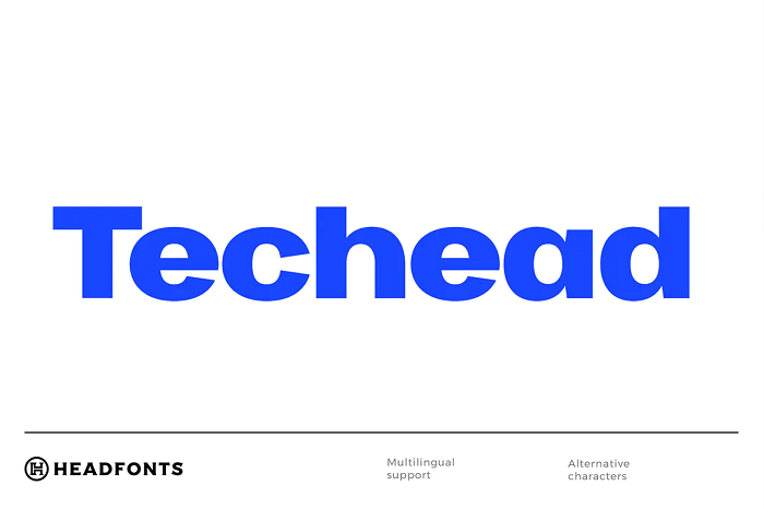 Techead  YouTube font